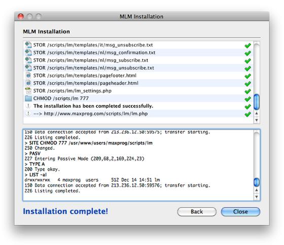 Need help installing MLM on server