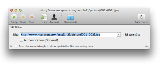 Web Dumper Incremental downloads