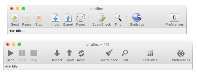 New black and white toolbar icons