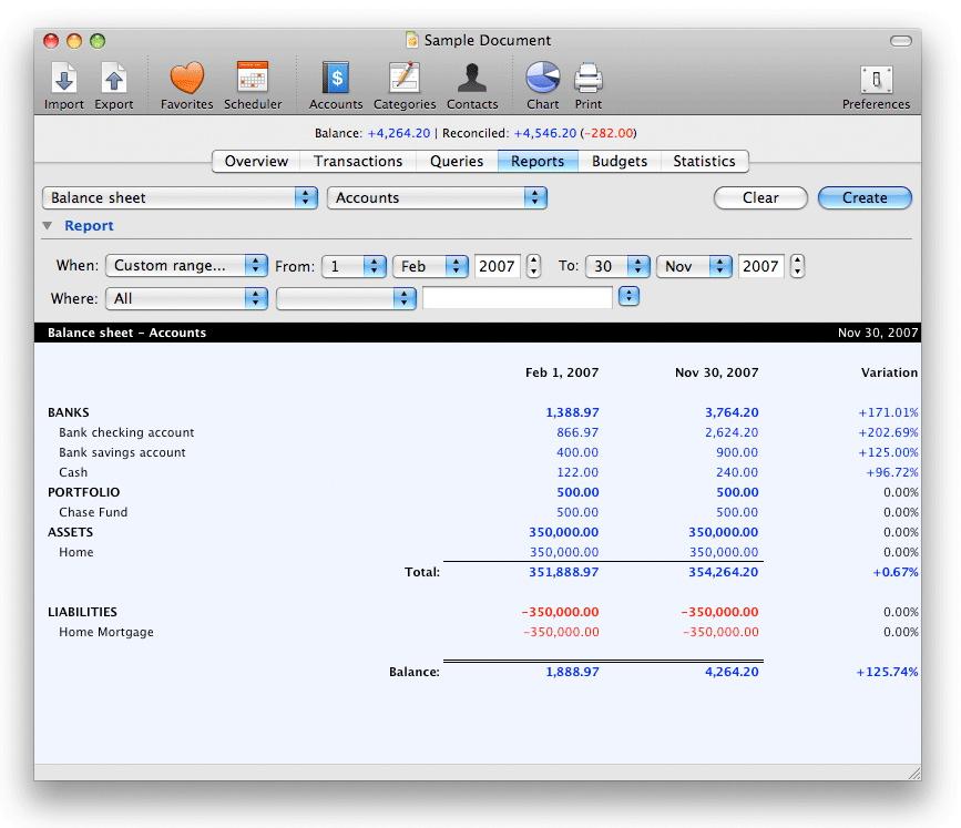 Maxprog – Profit and Loss Report Example